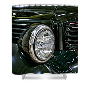 1940 Dodge Pickup Headlight Grill Shower Curtain