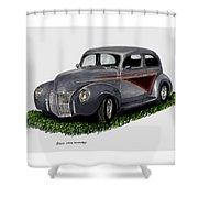1940 Ford Custom Street Rod Shower Curtain