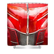 1940 Ford Deluxe Coupe Grille Shower Curtain