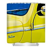 1940 Ford Deluxe Side Emblem Shower Curtain