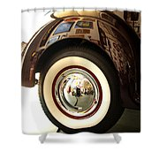 Classic Maroon 1940 Ford Rear Fender And Wheel   Shower Curtain