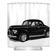 1940 Ford Restro Rod Shower Curtain