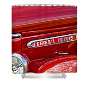 1940 Gmc Side Emblem Shower Curtain