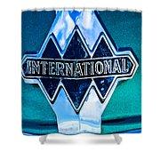 1940 International Emblem Shower Curtain
