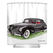 Lincoln Zephyr Cabriolet Shower Curtain