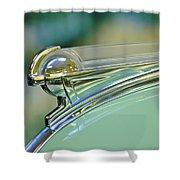 1940 Oldsmobile Hood Ornament Shower Curtain by Jill Reger