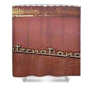 1940s Era International Harvester Truck Insignia Shower Curtain