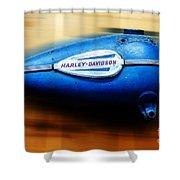 1940s Harley Tank Shower Curtain