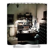 1940s Office Shower Curtain