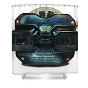 1940's View Master Stereoscopic Viewer Shower Curtain