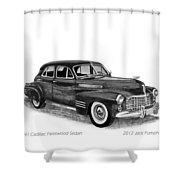 1941 Cadillac Fleetwood Sedan Shower Curtain