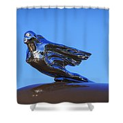 1941 Cadillac Series 62 Coupe Hood Ornament Shower Curtain