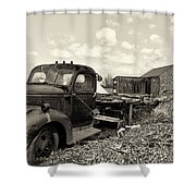 1941 Chevy Truck In Sepia Shower Curtain