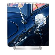 1941 Lincoln Continental Convertible Emblem Shower Curtain