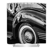 1941 Packard 110 Deluxe -1092bw Shower Curtain