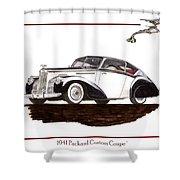 Packard Custom Coupe 120 Shower Curtain