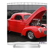 1941 Willys Shower Curtain
