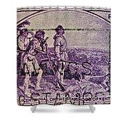 1942 Kentucky Statehood Stamp Shower Curtain