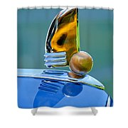 1942 Lincoln Continental Cabriolet Hood Ornament Shower Curtain
