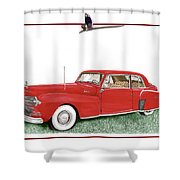 1942 Lincoln Continental Coupe Shower Curtain