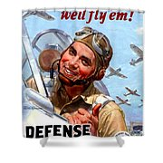 1944 - United States War Bonds And Stamps Poster - Wolrd War II - Color Shower Curtain