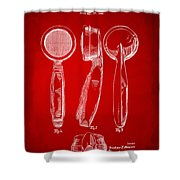 1944 Microphone Patent Red Shower Curtain