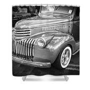 1946 Chevrolet Sedan Panel Delivery Truck Bw Shower Curtain