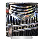 1946 Chevrolet Truck Chrome Grill Shower Curtain