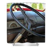 1946 Chevy Dash Shower Curtain