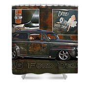1946 Ford Deluxe Shower Curtain