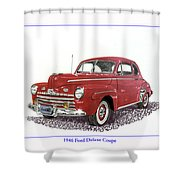 Ford Special Deluxe Coup E  From 1946  Shower Curtain