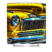 1946 Mercury Eight Street Rod Grille Shower Curtain