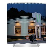 1947 Amoco Gas Station Shower Curtain