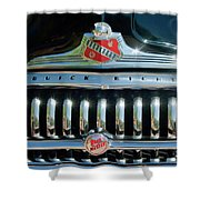 1947 Buick Sedanette Grille Shower Curtain