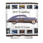 1947 Cadillac Model 62 Coupe Art Shower Curtain