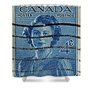1947 Canada Four Cents Stamp Shower Curtain