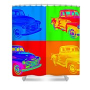 1947 Chevrolet Thriftmaster Pickup Pop Art Shower Curtain