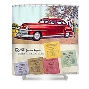 1947 - Desoto Automobile Advertisement - Color Shower Curtain