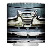 1947 Ford Deluxe Grille Emblem Shower Curtain
