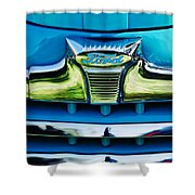 1947 Ford Deluxe Grille Ornament -0700c Shower Curtain