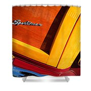 1947 Ford Super Deluxe Sportsman Convertible Taillight Emblem Shower Curtain