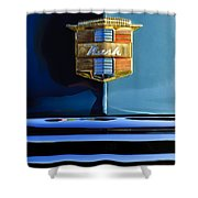 1947 Nash Surburban Hood Ornament Shower Curtain