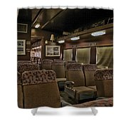 1947 Pullman Railroad Car Interior Seating Shower Curtain