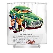 1948 - Dodge Automobile Advertisement - Color Shower Curtain