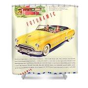 1948 - Oldsmobile Convertible Automobile Advertisement - Color Shower Curtain
