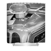 1948 Anglia Engine -522bw Shower Curtain