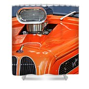 1948 Anglia Engine -522c Shower Curtain