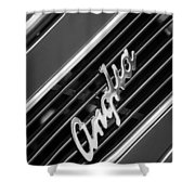 1948 Anglia Grille Emblem -510bw Shower Curtain