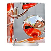 1948 Anglia Rear View Mirror -451c Shower Curtain