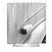 1948 Anglia Taillight -447bw Shower Curtain